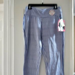Pants - Navy and white capris